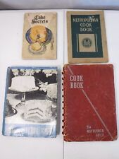 Antique Cookbooks Lot of 4 SWANS DOWN, WATKINS, MAYFLOWER GUILD, METROPOLITAN
