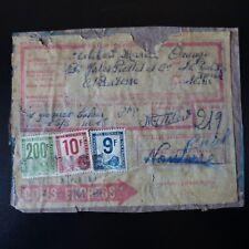 PETIT COLIS POSTAUX N°9/10/24 SUR BULLETIN D'EXPÉDITION ORANGE 1948 -> CALAIS