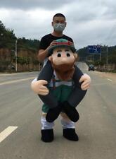 Funny Carry me Ride on cosutme Big Beard Man Dres pants Mascot Oktoberfest Beer!