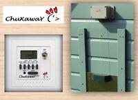 Chuxaway SCX Automatic Chicken Coop Pop Hole Opener with Timer & ALUMINIUM DOOR