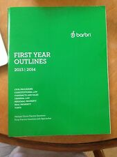 Barbri First Year Outlines 2013-2014