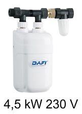 Chauffe eau instantané DAFI 4,5 kW 230V avec connecteur (monophasé) !*!