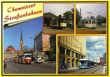 Ansichtskarte: Straßenbahnen in Chemnitz - verschiedene Ansichten