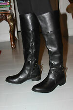 STEVE MADDEN NERVES BLACK LEATHER KNEE BOOT SIZE 7