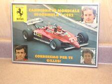 Gilles Villenueve, Mario Andretti, Patrick Tambay, Ferrari F1 vintage poster