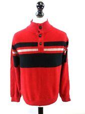 CHAPS RALPH LAUREN Boys Jumper Sweater 18-20 Years XL Red Cotton Poly 1/4 Zip