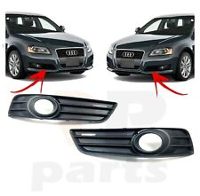 FOR AUDI A3 08-12 NEW FRONT BUMPER LOWER GRILLE WITH FOG LIGHT HOLE PAIR SET L&R