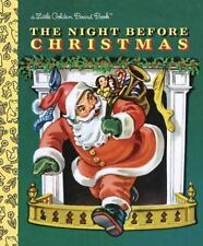 The Night Before Christmas: Little Golden Board Book by Clement C Moore HC -NEW!
