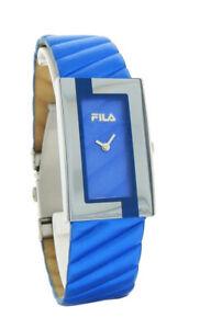 Fila FA0845-R-L Prezioso Women's Metallic Blue Leather Band Analog Watch