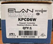 Elan PulseWorx Kpcd6W Keypad Controller Desktop 6 B-Button - White - New