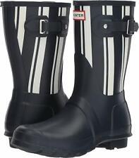 Hunter Women's Original Stripe Navy/White Rain Boots 11M NW/OB
