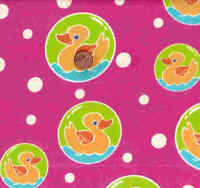 Cute to boot pink ducks dots Kaufman flannel  fabric