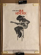 Jimi Hendrix Original Vintage Poster Movie Documentary Music Memorabilia 1973