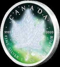 1 $2016 canadá-Frozen Maple Leaf-Aurora rodio