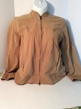 Gear For Sports suede light weight jacket - tan size XL with reversable zipper