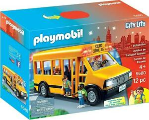 Playmobil City Life Kids School Bus Vehicle Toy Flashing Lights 5680 NEW GIFT UK