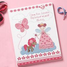 Cross Stitch Kit ~ Plaid-Bucilla Fairytale Princess Baby Birth Record #47665
