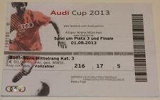 Ticket 2013 Bayern Munchen FC Sao Paulo AC Milan Manchester City Audi Cup Semifi