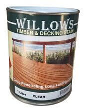 Willows Timber Deck Furniture Window Beams Stain Paint OiL Based 1L Clear