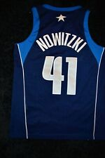 Jersey Nba Dirk Nowitzki Dallas Mavericks Nike Size M Blue Made in El Salvador