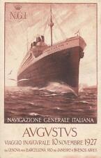 A5142) MARINA, TRANSATLANTICO AUGUSTUS VIAGGIO INAUGURALE 1927. VIAGGIATA.