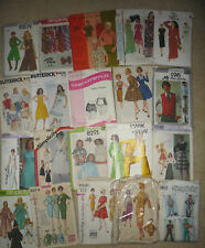 Mixed Lot VTG 60's 70's 80's Sewing Patterns Womens-Mens-Costumes most uncut