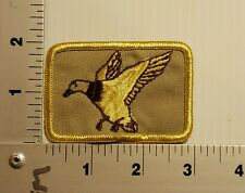 1980's DUCK HUNTING (tan)   VINTAGE EMBROIDERED PATCH