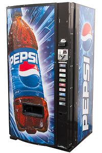 Dixie Narco 501E Soda Vending Machine Cans & Bottles Pepsi FREE SHIPPING
