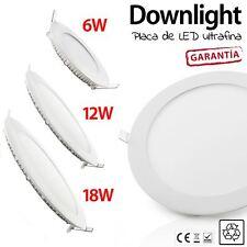 DOWNLIGHT LED ULTRAFINO VARIOS TAMAÑOS 6W 12W 18W REDONDOS placa led techo blanc