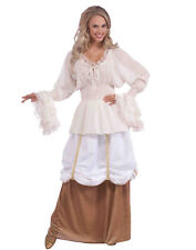 Medieval Renaissance Wench Maid Beer Girl Womens Blouse - Std