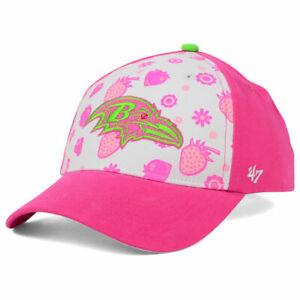 Baltimore Ravens NFL Strawberry Smoothie Kid's Youth Adjustable Girls Hat Cap MD