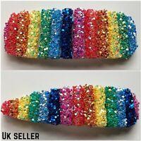 Big Rainbow Glitter Hair Clips, Slides, Hair Accessory, Barrette Oversized Multi