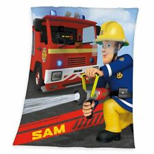 Sam & Jupiter | Feuerwehrmann Sam | 130 x 160 cm | Decke Fleece | Kuscheldecke