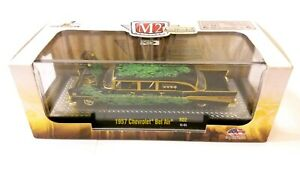 M2 MACHINES AUTO-STRETCH RODS 1957 CHEVROLET BEL AIR GOLD CHASE