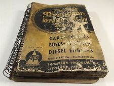 1940 New Thompson Repair & Tune-Up Manual for Cars Trucks Buses Diesel Engines