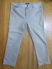 Ralph Lauren Jeans Co. Women's Denim Jeans Size 20W PLUS Tan Cotton Blend