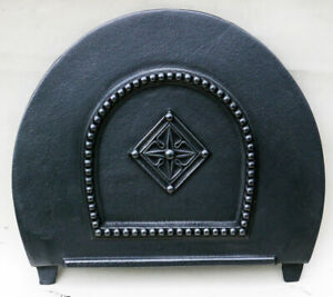 Victorian Cast Iron Arch Fireplace Inset Spare Parts: Closing Rear Draw Plate