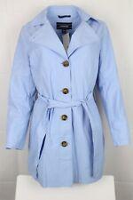 Lands End Women's Harbour Trench Coat Medium Baby Blue 481659