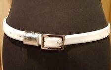 "Nine West 350041 White Patent Leather .75"" Belt, M - $28"