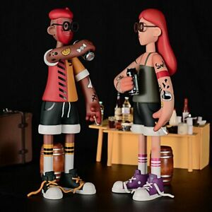 Smoking Boy & Girl Couple Art Designer Toy Figurine Collectibles Figure Display