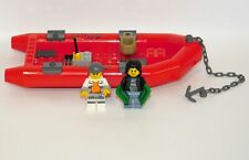 Lego City Lot Red Raft w/2 Minifigures (Prisoner & Female Bandit) from #60129