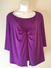 Women's Just my Size Blouse Purple Size 3x