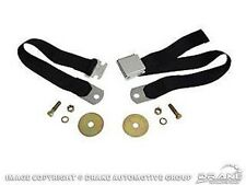 """1964-1973 Ford Mustang  ANY FORD 1960-1973 60"""" Black Seat Belts - Chrome Buckles"""