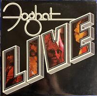 Foghat – Live : 1977 Vinyl LP Bearsville BRK 6971 Jacksonville Pressing EX