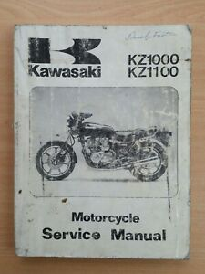 Kawasaki KZ1000 KZ1100 Service Manual Genuine Kawasaki Manual
