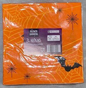 Halloween - Napkins - Bat Design - 24pk - Brand New