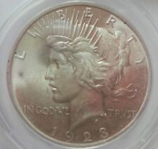 >> 1923-P  PEACE SILVER DOLLAR,  ANACS HIGH GRADE MS58 COIN, WOW..Great TONES