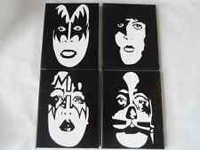 KISS Painted Canvas Wall Hangings / Wall Art - Set of 4
