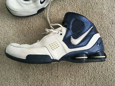 NIKE ELITE Shox BLUE WHITE 2006 HIGH TOP Court Worn only 13.5 Excellent Shoe VTG