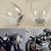 "5 3/4"" Cafe Racer Headlight Fairing Windshield Windscreen For Harley Sportster"